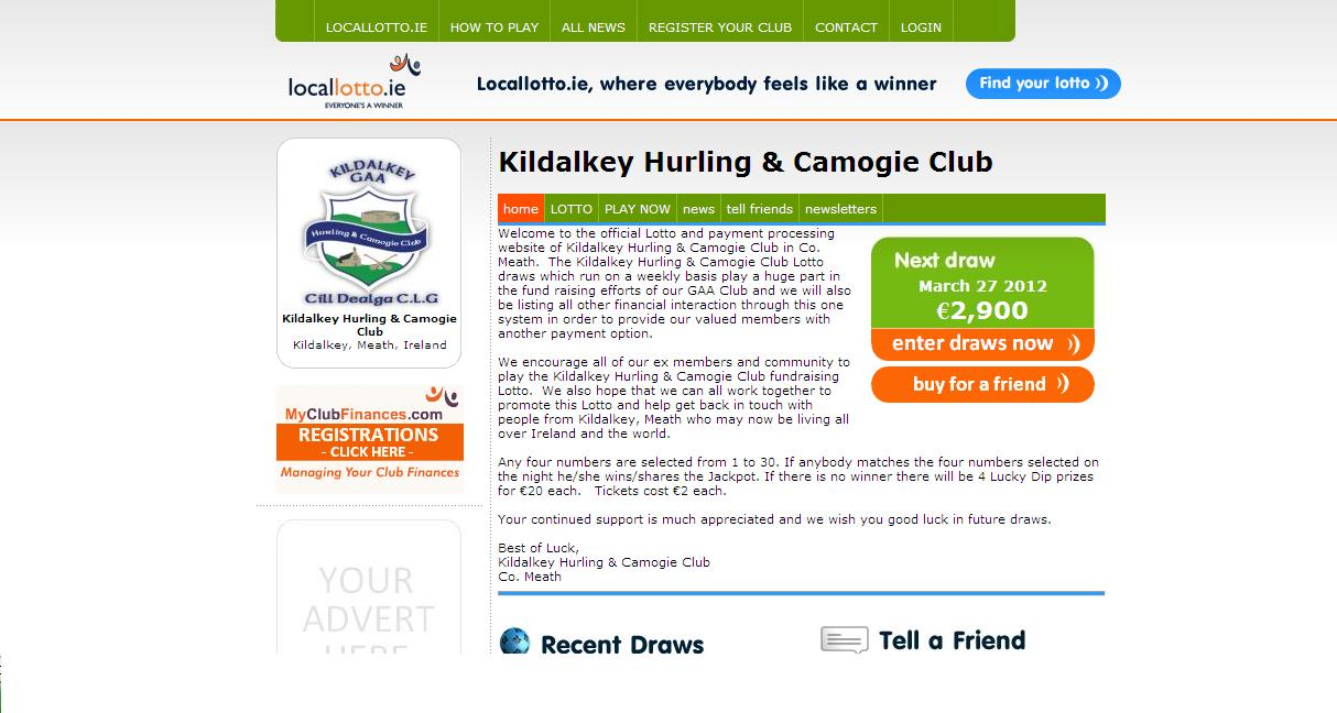 Play Kildalkey GAA Lotto Online